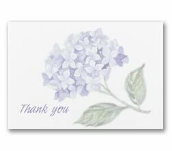hydranges thank you notes