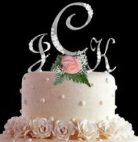 personalized wedding cake top