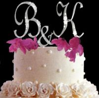 monogram and initials theme wedding accessories