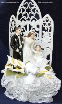 family theme wedding cake top