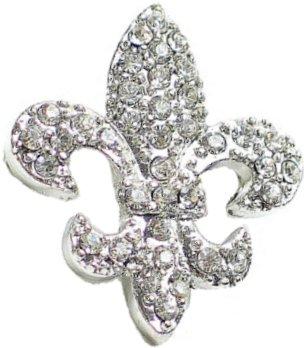 crystal fleur de lis charm 349