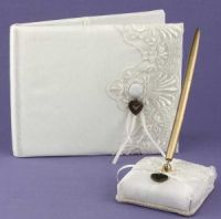 guest book and pen