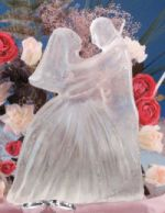 make your own bride and groom ice carving centerpieces.