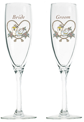 Click here to buy elegant toasting flutes.